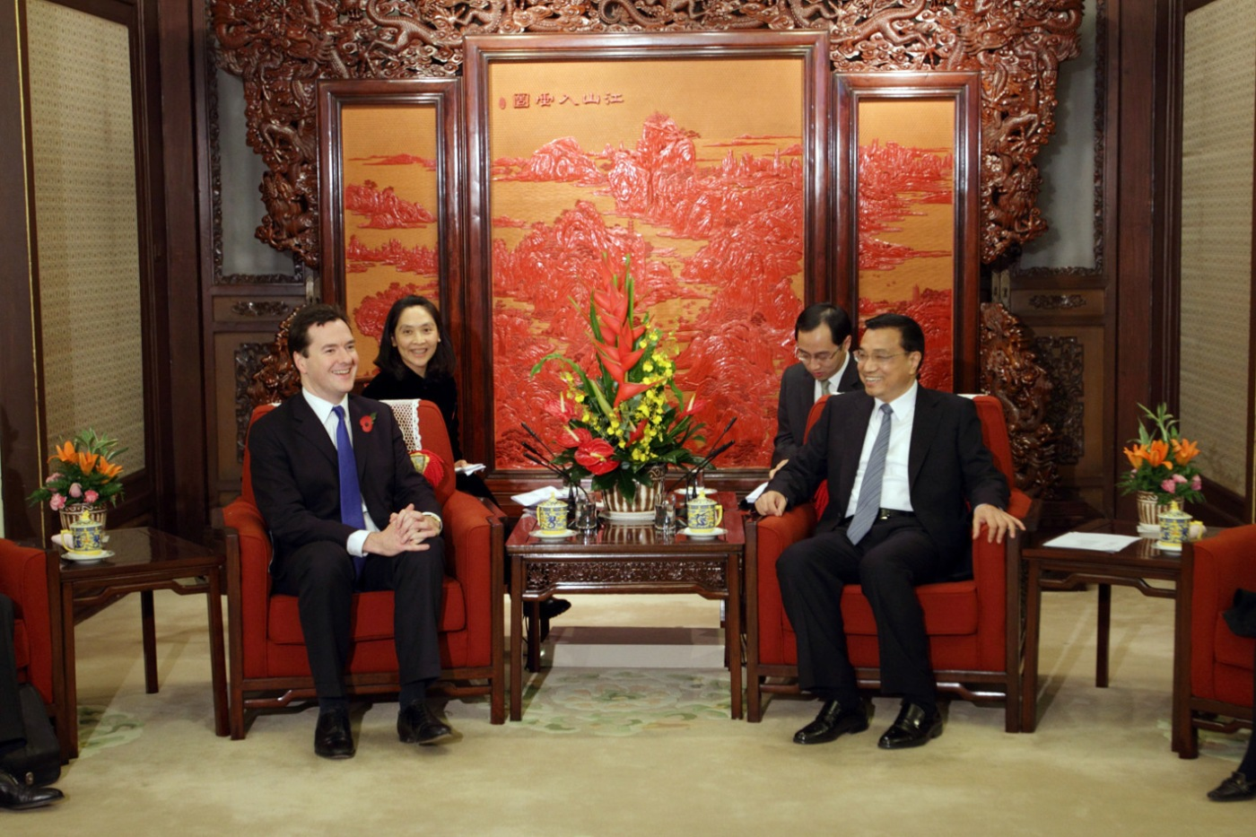 CHINA. Beijing. George Osborne, Britain's Chancellor of the Exchequer meeting with Li Keqiang, the Executive Vice-Premier of China. 2010