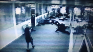 Figure 2: CCTV footage captures the event in Besson's Lucy.